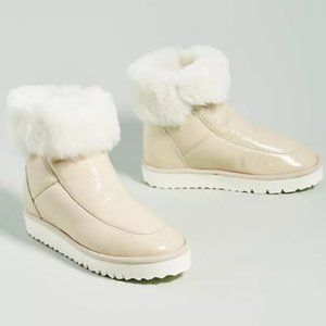 ANTHROPOLOGIE MAYPOL EXTRALIGHT Fuzzy Ankle Boots